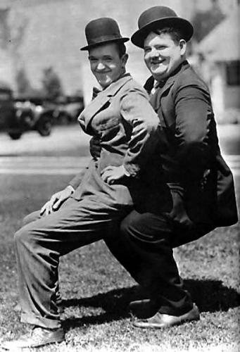 Laurel & Hardy -any of their films.....