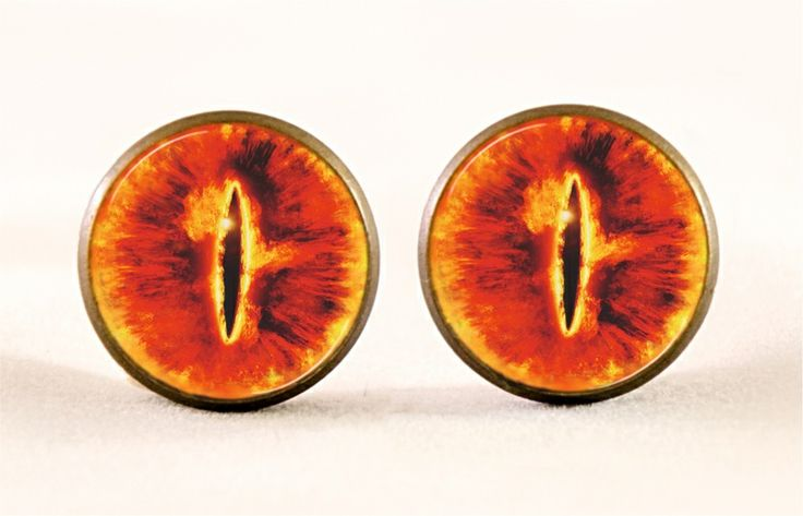 Sauron Eye Earrings, 0189ESB from EgginEgg by DaWanda.com