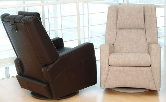 Talian Design Recliner Swivels Rocks And Reclines Many