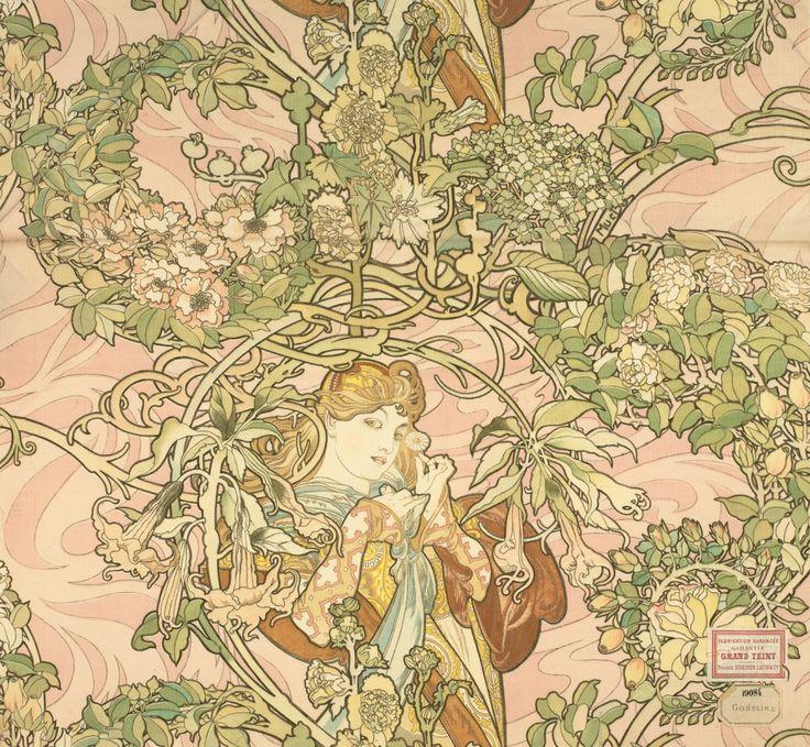 237 best art nouveau images on pinterest art nouveau vmfa art deco art nouveau furnishing fabric by alphonse mucha gumiabroncs Images