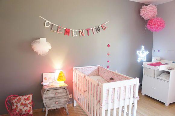 Une chambre douce et tendance pour la petite Clémentine