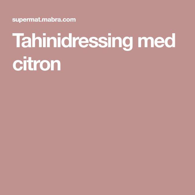Tahinidressing med citron
