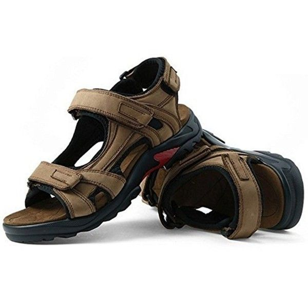 Royal Victory Men's Sports Sandals Leather Strap Summer Open-Toe Gladiator  Shoes US6.5-US11.5 Plus Size - Khaki - CV180EIKGUC | Summer leather sandals,  Mens leather sandals, Genuine leather sandals