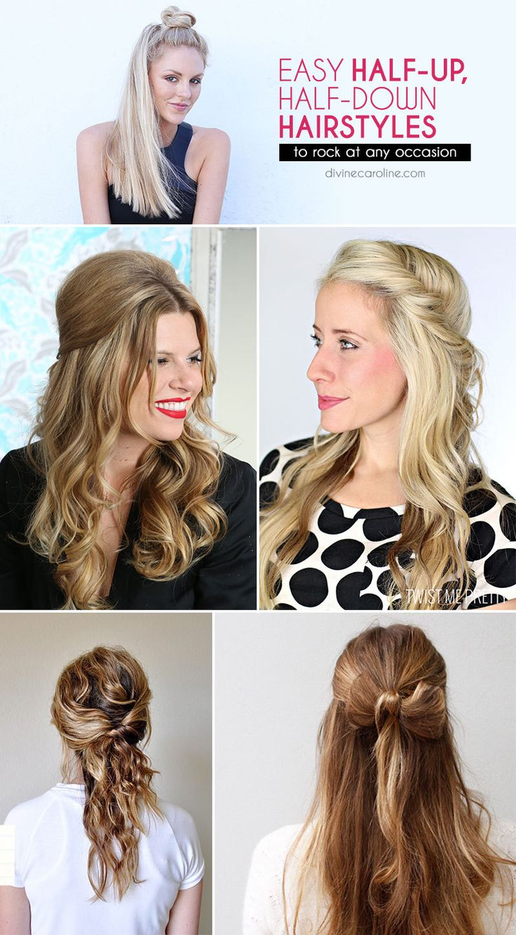 Easy Up Do On Stretched Natural Hair: Easy Half-Up, Half-Down Hairstyles To Rock For Any Occasion