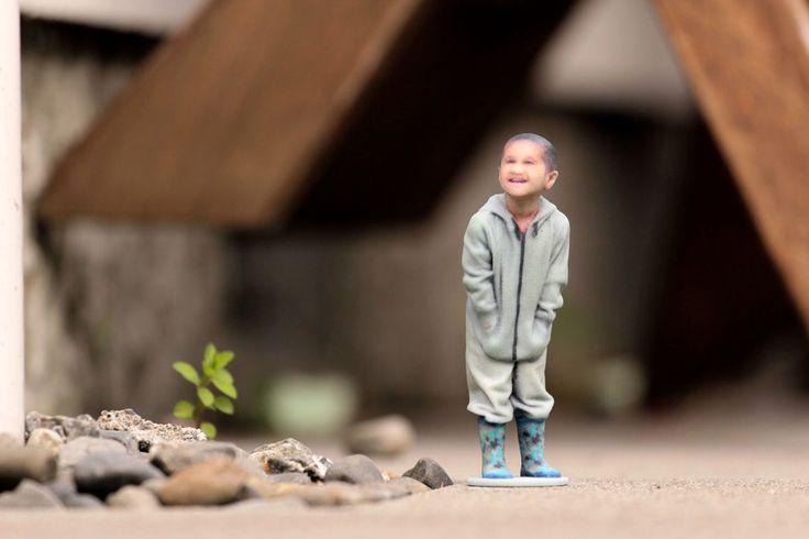 3D-printed full colour figurines / mini-replicas (sandstone)