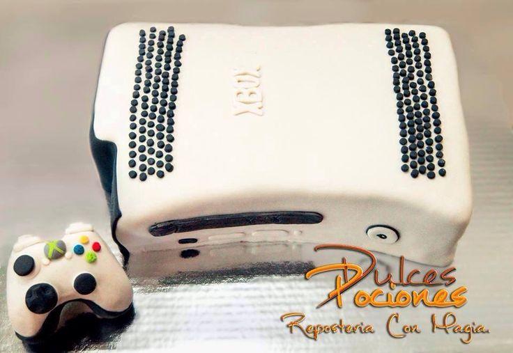 Xbox Fondant cake Pastel de Xbox con Fondant