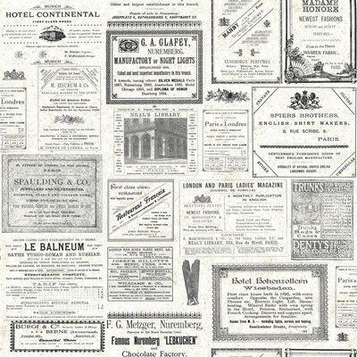 "York Wallcoverings 33' x 20.5"" Headline News Wallpaper"