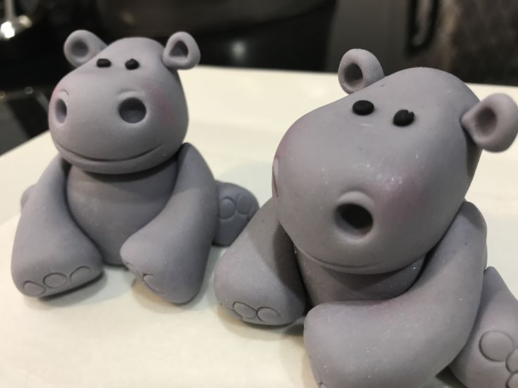 Fondant Hippos