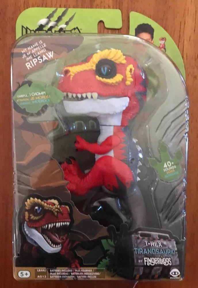 Fingerlings Untamed T Rex Red Dinosaur Ripsaw Hot Top Toy Finger Pet Rex Top Toys Ebay