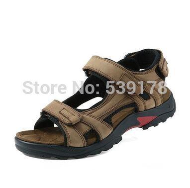 Высочайшее качество сандалии 2016 мужчины сандалии летние тапочки из натуральной кожи сандалии мужчины открытый обувь мужчины кожаные сандалии для мужчин 05