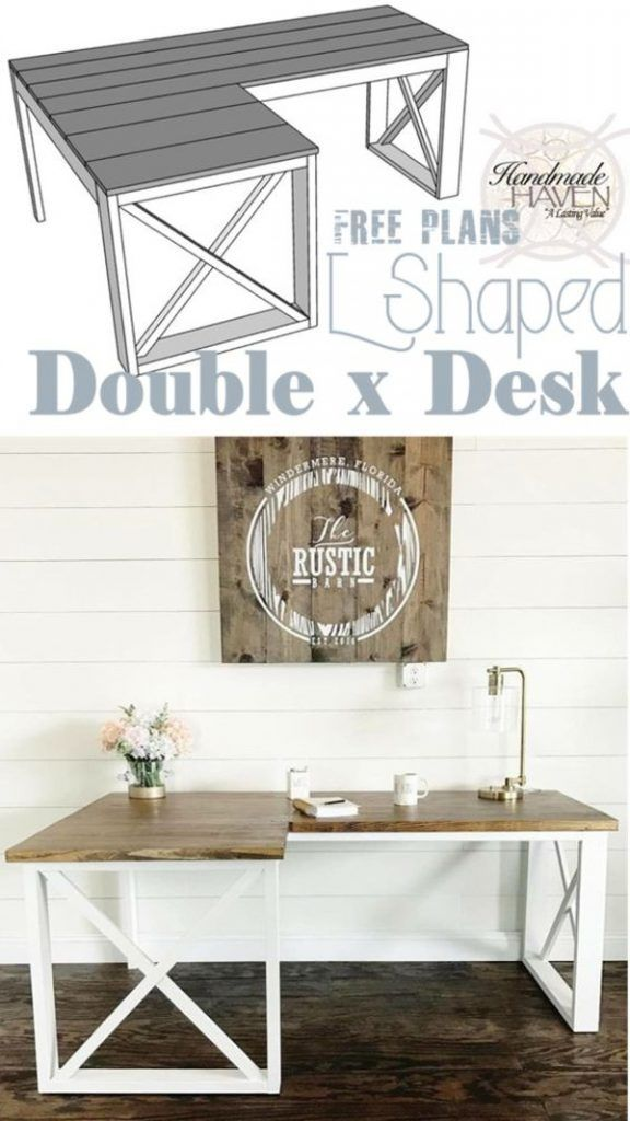 Check out the tutorial how to build a DIY l-shaped double-x desk @istandarddesign
