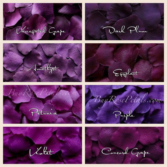 1,000 Purple Rose Petals - Shades of Purple Silk Rose Petals for Weddings
