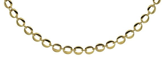 """9ct Gold Chain Oval Link Necklace 9ct 9k 10k Solid Yellow Gold 45cm's, 18"""" Inches 375 Mens Womens Male Female T-Bar Chain Custom N246"""