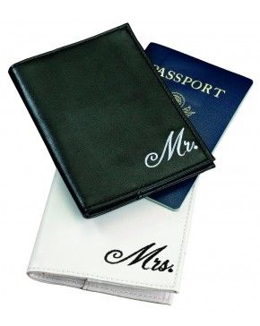 Mr. and Mrs. Passport Covers - Couple gift ideas - If the Celebrating of the honeymoon it's close to happen, this is a great gift for the exciting new beginning of happily ever after. This is a perfect gift for a couple. - $10.78