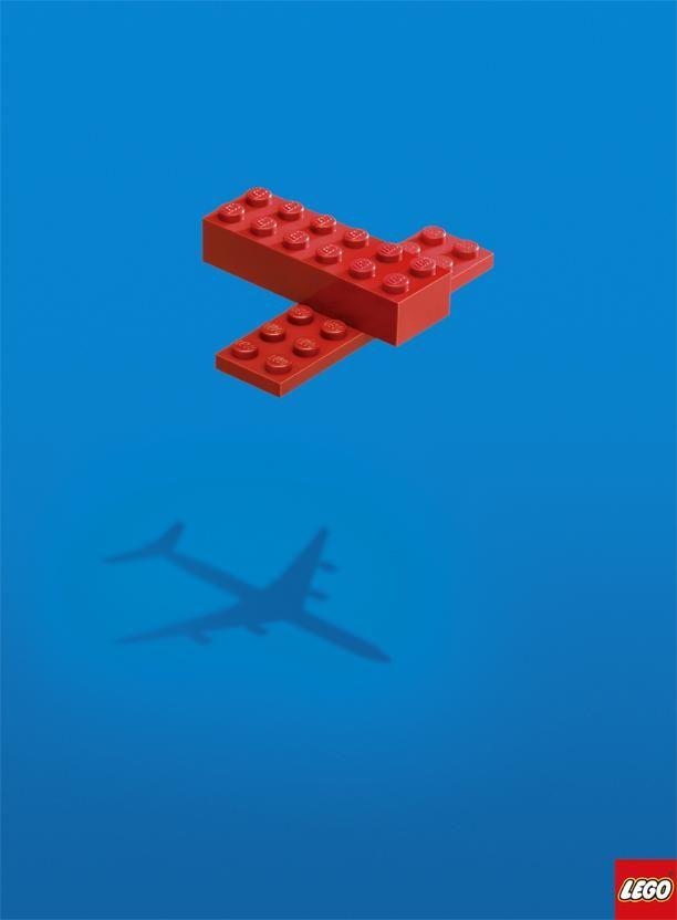 Lego - Avión  minimalista  chido  publicidad