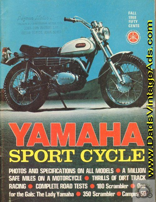 1968 Yamaha Sport Cycle Magazine – photos & specifications on all models