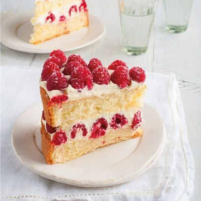 Raspberry Genoise sponge. For the full recipe, click the picture or see www.redonline.co.uk