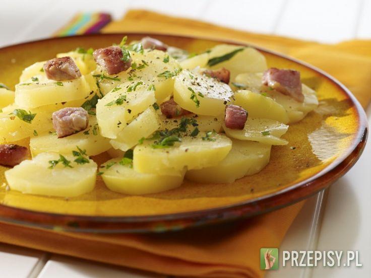 Niemiecka sałatka ziemniaczana z boczkiem