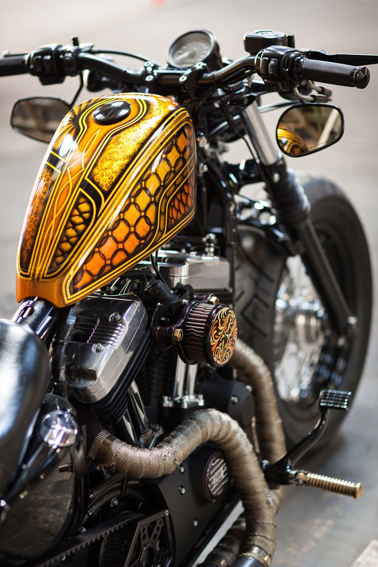 "Harley-Davidson XL1200X Sportster ""48"" with custom painted tank 