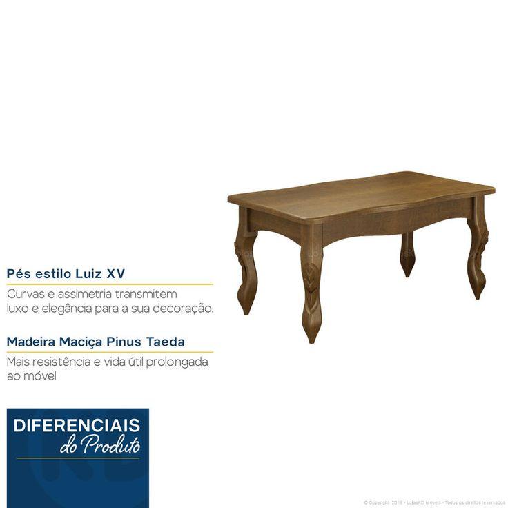 Compre Mesa de Centro Cabriolet Com Pés Luis XV Manon Imbuia - Urbe Móveis em Promoção com ✓ Até 12x ✓ Fretinho