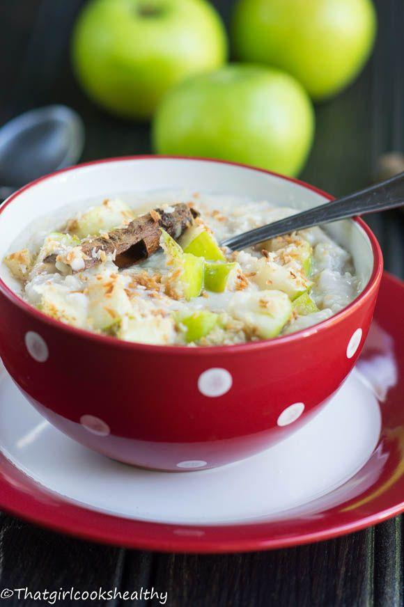Creamy apple coconut oatmeal (gluten free)
