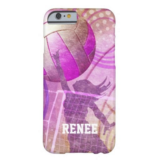 Girly Volleyball ~ now available for the iPhone 6 ~ Case-Mate Barely There iPhone 6 Plus Case with vibrant colorful volleyball graphics in pink purple gold and female volleyball player by katz_d_zynes 2014 ~ see more at http://www.zazzle.com/katz_d_zynes* ~ http://katzdzynes.weebly.com/