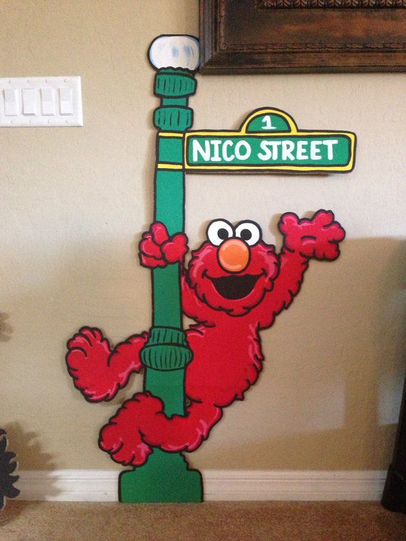 Elmo painted Sesame Street Character Party by PrettyPartiesndPaint