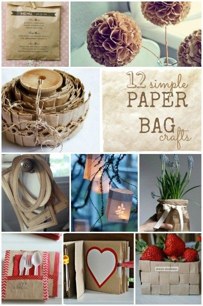 12 simple Paper Bag Crafts - what can you make with a brown paper bag?