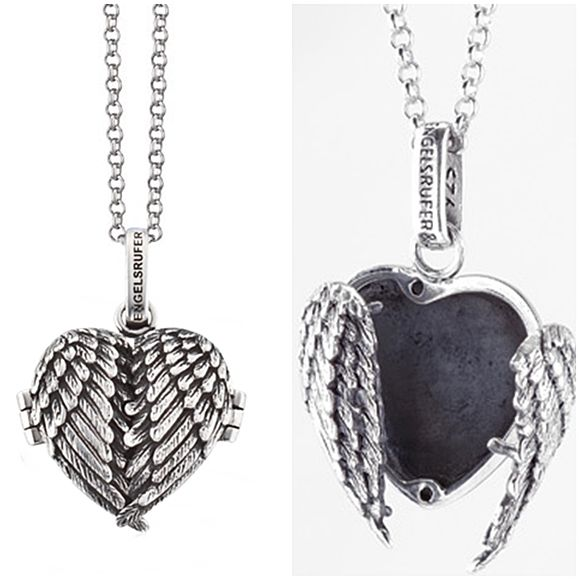 The Angel wing locket is special because of the personal meaning affixed to it.