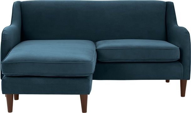 Helena Corner Sofa Plush Teal Velvet From Made Com If You Re Short On Space But Require A Stylish Sofa Helena Is A Smart Inves Sofa Stylish Sofa Corner Sofa