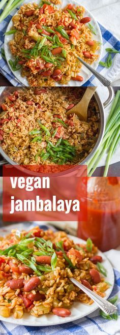 This easy vegan jambalaya is made with a spicy mixture of brown rice, red beans and bell peppers. It cooks up quick and easy on the stove, or you can let it simmer away in the slow cooker!