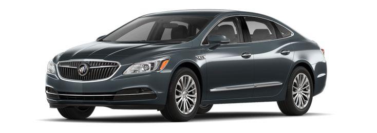 Image of the 2018 Buick LaCrosse full-size luxury sedan in dark slate metallic.