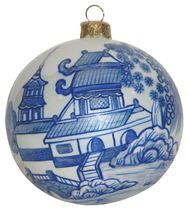 Blue WIllow Chinoisserie Christmas ornament by Thomas Glenn