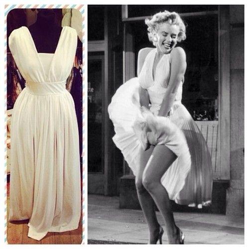 White Marilyn Monroe style dress - size UK 12 - £38 #marilynmonroe #sevenyearitch #whitedress #icon #iconic #jfk #cute #halloween #fancydress #dressup #normajeane #movie #oldhollywood #nostalgia #film #hollywood #pinup #gentlemenpreferblondes #diamondsareagirlsbestfriend #historic #moment #sultry #happybirthdaymrpresident #blonde