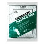 PREMIER 10 ft. x 20 ft. 1 mil Embossed Plastic Drop Cloth (24-Pack), Clear