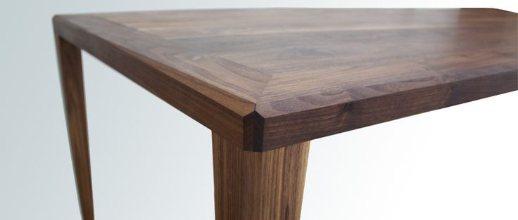 Floe Solid Timber Dining Table, Walnut - Diamond Shaped Corners -