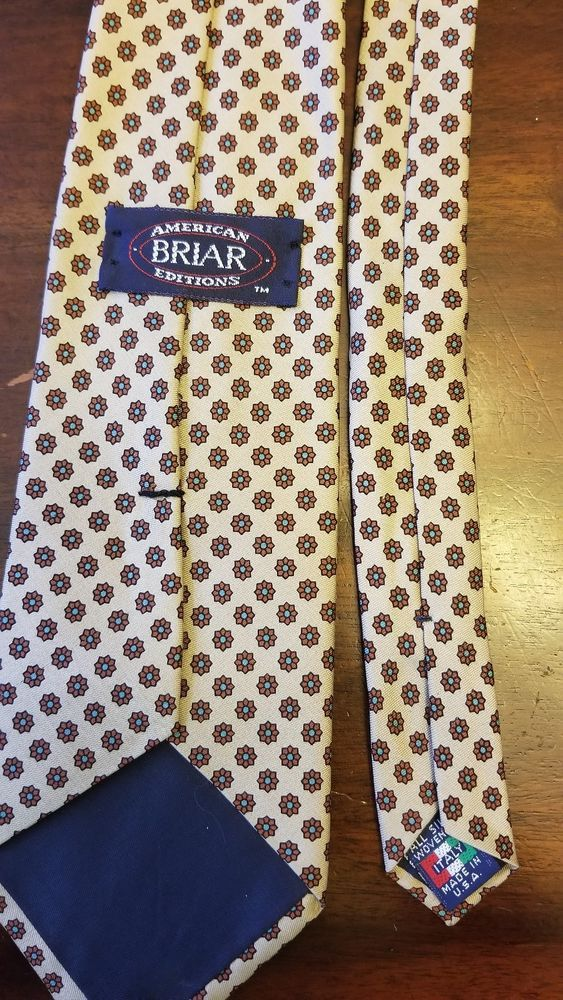 ee7e88272131 Briar Men's American Editions Silk Neck Tie EUC Woven in Italy 100% silk # fashion #clothing #shoes #accessories #mensaccessories #ties (ebay link)
