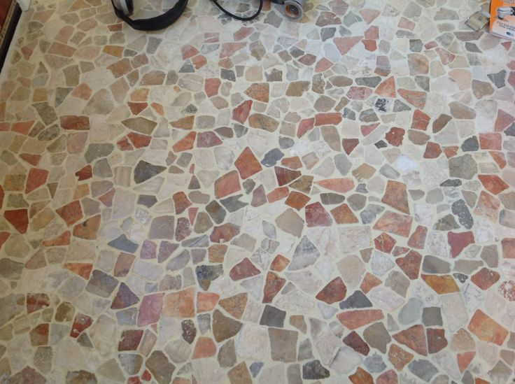 Cracked grout repair, good as new