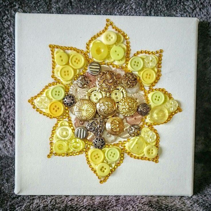Sunflower button craft