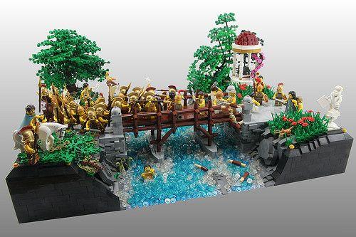Lego MOC of the Week - Horatius on the Bridge by Dan Harris | Trees ...