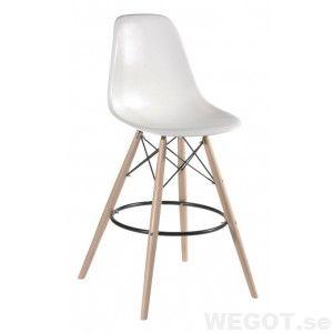 Elton barstol vit, Matbord och stolar/Stolar/Barstolar