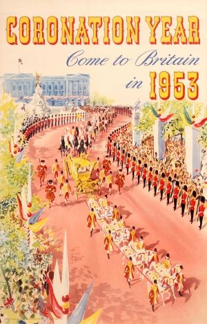 Come to Britain Coronation Year, 1953 - original vintage poster listed on AntikBar.co.uk