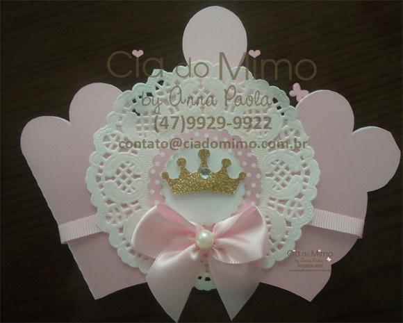 Convite Castelo e Coroa Princess                              …
