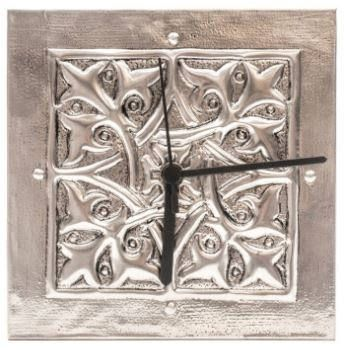 Hand Embossed Pewter Clock by PewterConcepts on Etsy