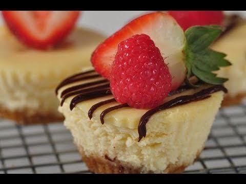 Individual Cheesecakes Recipe Demonstration - Joyofbaking.com - YouTube