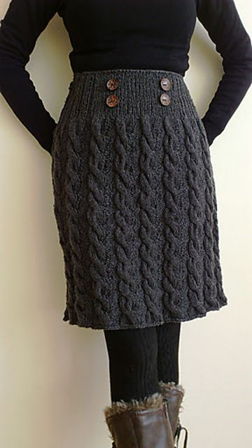 Ravelry: Winter Twist Skirt by Romy Kremers