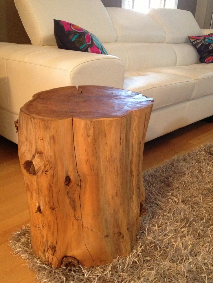 Tree stump table in living room ottawa ontario for Stump furniture making