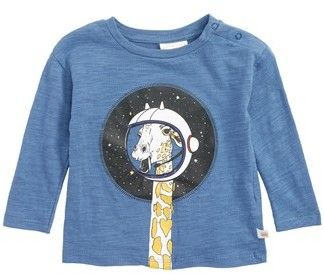 Infant Boy's Rosie Pope Giraffe In Space Graphic T-Shirt