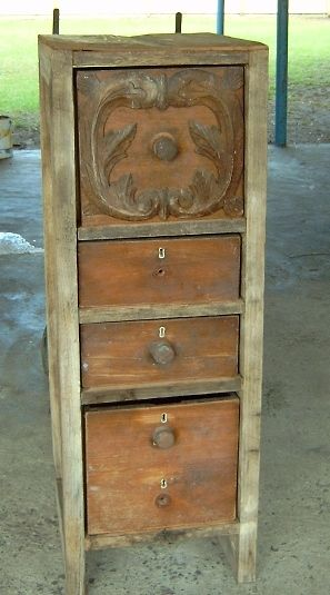 One of My Personal Favorites- Hardwood Cupboard, Recycle, recycle!!! For Sale at Rusticality at Geelong's Newcomb Mill Market