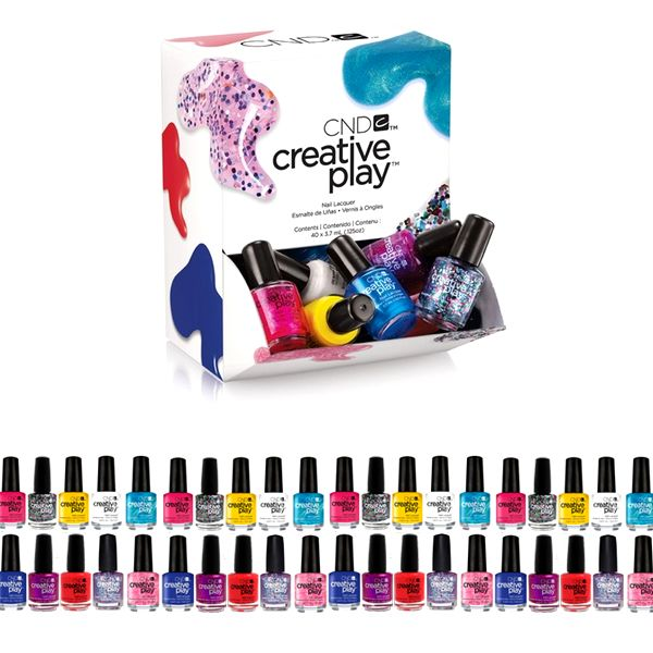 40 Pack: CND Creative Play Pinkies Deluxe Nail Polish Set With Salon Exclusive Shades from eFizzle